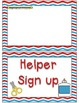 Helper and Reader Sign-ups ~ Red, White & Blue Chevron