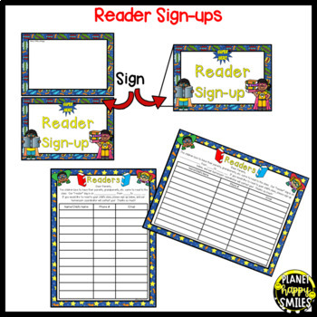 Helper and Reader Sign-ups ~ Super Hero Theme