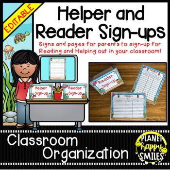 """Helper and Reader Sign-ups ~ """"Under the Sea"""" Ocean Theme"""