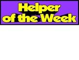 Helper of the Week