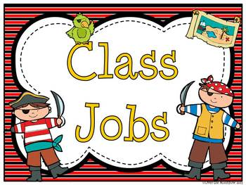 Helpers Ahoy Classroom Jobs Display & Clip Chart