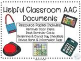 Helpful AAC Classroom Documents Augmentative Alternative C