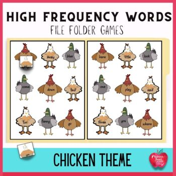 File Folder Games: Helpful Barnyard Friends Sight Words