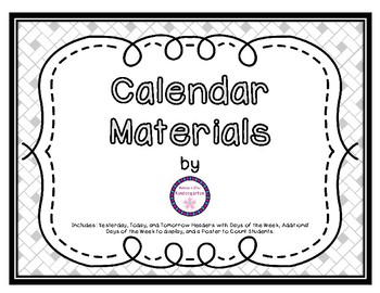 Helpful Calendar Materials