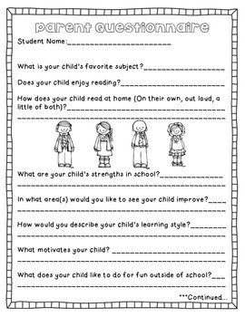 Helpful Forms For Back to School
