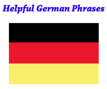 Helpful German sayings