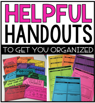 Helpful Handouts for Special Education Organization