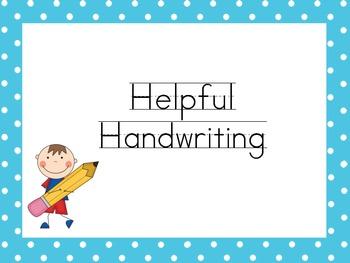 Helpful Handwriting