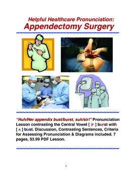 Helpful Healthcare Pronunciation:Appendectomy Surgery