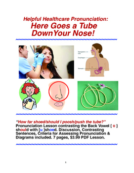 Helpful Healthcare Pronunciation: Here Goes a Tube Down Your Nose!