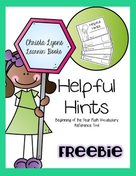 Helpful Hints {Everyday Math 1st Grade ELL Support}