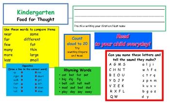 Helpful Hints for Kindergarten