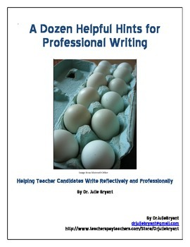 Helpful Hints for Professional Writing