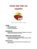 Helpful Hints for Reading in Spanish