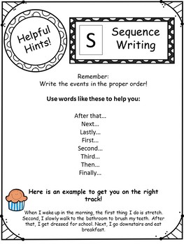One Page Writing Genres Information Sheet