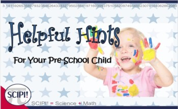 Preparing to Start School: Helpful Hints for the Parent/Guardian of a PreK Child