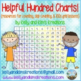 Helpful Hundred Charts! {great resource for counting and skip counting lessons}