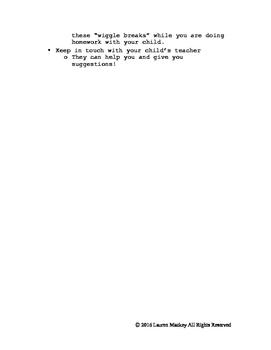 Helpful Tips for Active Children - Parent Handout