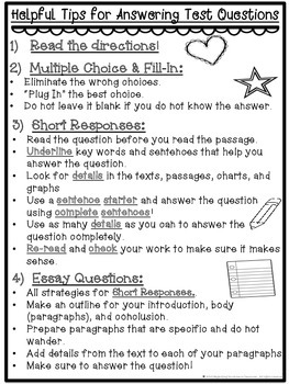Helpful Tips for Answering Test Questions