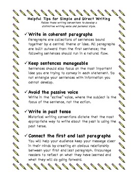 Helpful Tips for Simple and Concise Writing by
