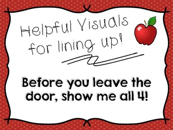 Helpful Visuals for Lining Up!