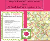 Helpful and Harmful Insect Review: Chutes and Ladders-style Game & assessments