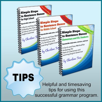 Helpful and Timesaving Tips for Using Simple Steps to Sentence Sense