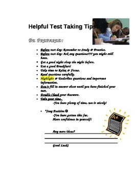 Helpful test taking tips for students.