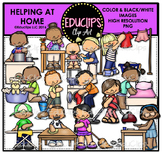 Helping At Home Clip Art Bundle {Educlips Clipart}