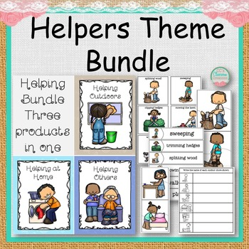 Helper Theme Bundle Matching Tasks and Worksheets
