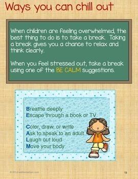 Stress Management Activity Bundle: Teaching Kids to Manage Stress