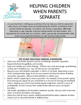 Helping Children When Parents Separate
