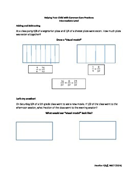 Helping Children with Common Core Fractions