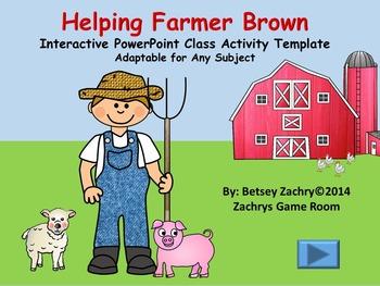 Helping Farmer Brown Interactive PowerPoint Class Activity Template