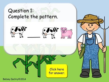 Helping Farmer Brown On the Farm Patterns Activity