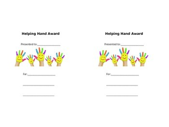 Helping Hand Award