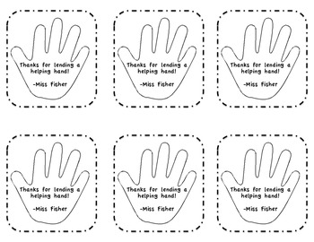Helping Hand Gift Tags