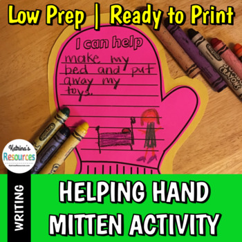 Helping Hand Mitten - Holiday Writing Activity & Project