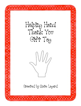 Helping Hand - Thank You Gift Tag