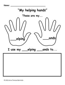Helping Hands Activity Packet: Lowercase 'h'