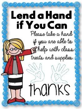 Helping Hands Bulletin Board