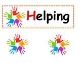 Helping Hands Chore Chart