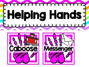 Helping Hands Classroom Job Chart
