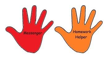Helping Hands Classroom Jobs
