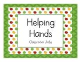 Classroom Jobs - Apple Theme
