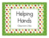 Classroom Jobs - Apple Theme