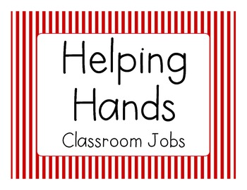 Classroom Jobs (Red Stripes)
