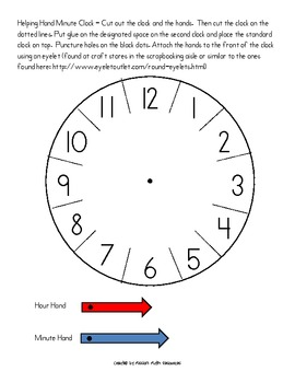 Helping Hands Clock - Telling time to the nearest 5 minutes