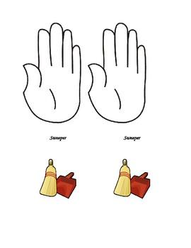Helping Hands Job Chart (printable & editable)