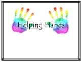 """Helping Hands"" Job Poster (Rainbow Themed)"